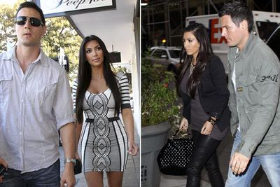 Before Kim's 72-day marriage to Kris Humphries and the current Kanye era, Kim briefly dated Australian bodyguard Shengo in 2010. He appeared in episodes of <i>Keeping Up With The Kardashians</i> and <i>Kourtney and Kim Take New York</i>. Shengo's divorce to wife Zuzana hadn't been finalised ... but the Kim-Shengo dream didn't last long.<br/><br/>Images: Splash