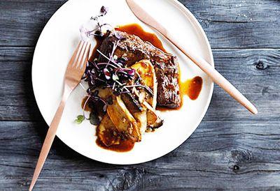 "Recipe: <a href=""/recipes/imushroom/8301649/pan-fried-flank-with-shallot-mushroom-and-madeira-sauce"" target=""_top"" draggable=""false"">Pan-fried flank with madeira sauce</a>"