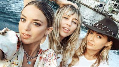Kaitlynn Carter, Miley Cyrus, Brandi Cyrus.