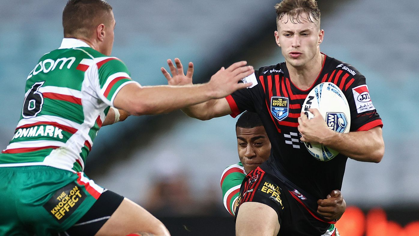Sam Walker playing for North Sydney against South Sydney in the round three NSW Cup match in March.