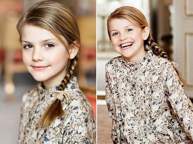 Princess Estelle of Sweden celebrates her eighth birthday