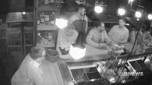 The men openly told bar staff they'd come back for the hammer. Picture: 9NEWS