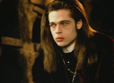 Long before Twilight came around, Brad played pale-skinned bloodsucker Louis de Pointe du Lac in the classic 1994 romantic horror Interview with the Vampire. Robert Pattinson was only eight when this came out!
