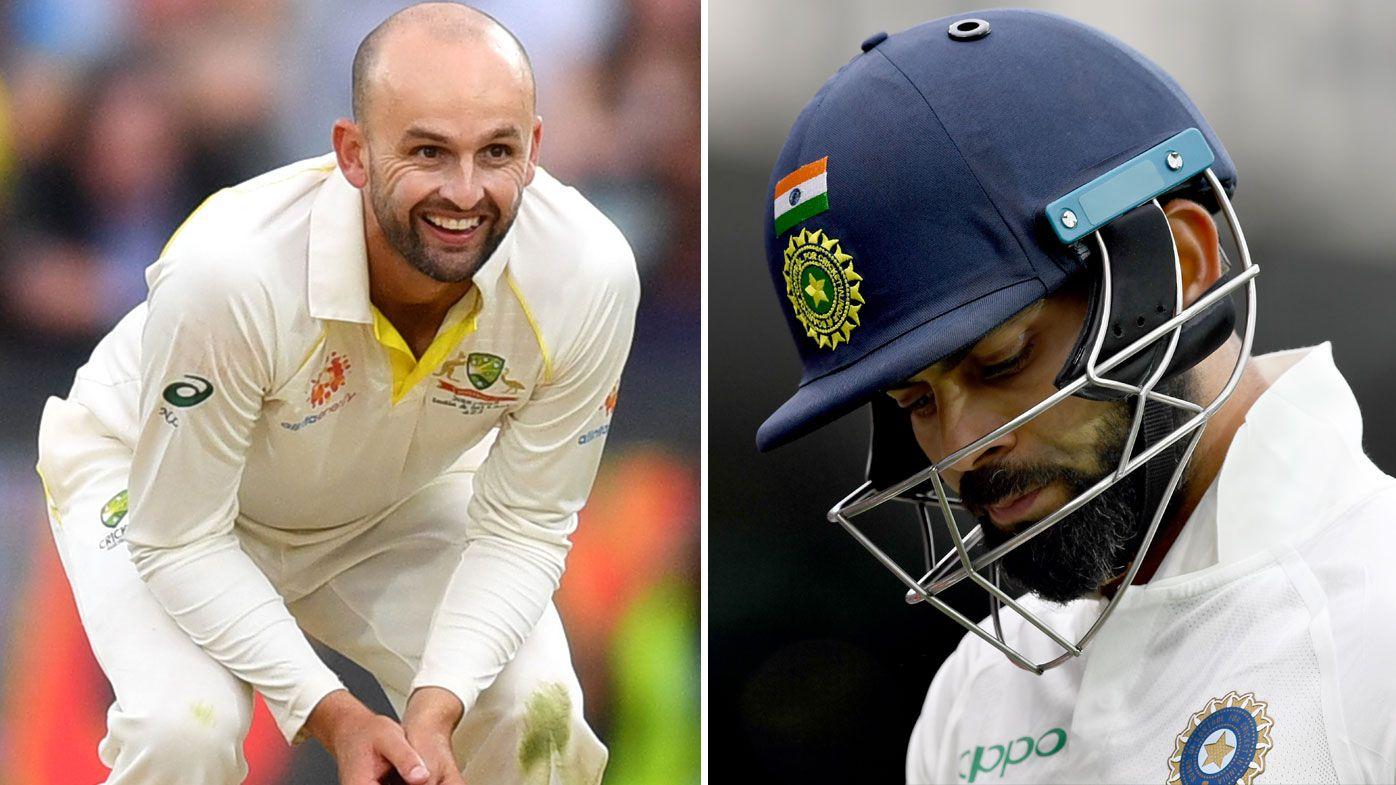 Lyon strikes for Aussies with Kohli wicket