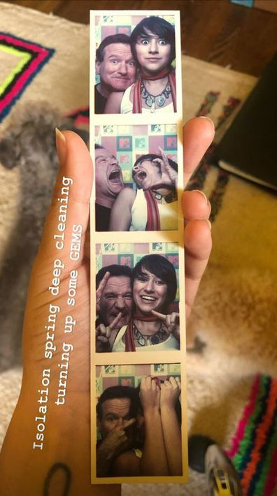 Zelda Williams and Robin Williams, photo booth, throwback. coronavirus, spring clean