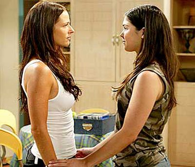 <B>The kiss:</B> Tough girl Charlie Buckton (Esther Anderson) and deckhand Joey Collins (Kate Bell) had a gentle smooch when Charlie came to terms with new homosexual feelings.<br/><br/><B>Tacky or touching?</B> Somewhat tacky. Like any soapie, <i>Home and Away</i> lives for ratings, but this kiss was going to be edited out because a same-sex relationship was deemed too racy for an early-evening timeslot. It was only kept after a viewer protest.