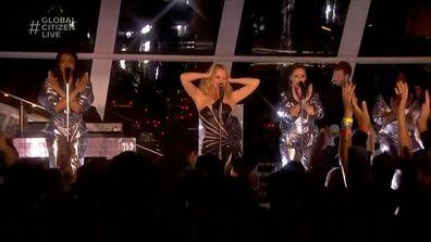 Kylie Minogue at Global Citizen Live 2021.