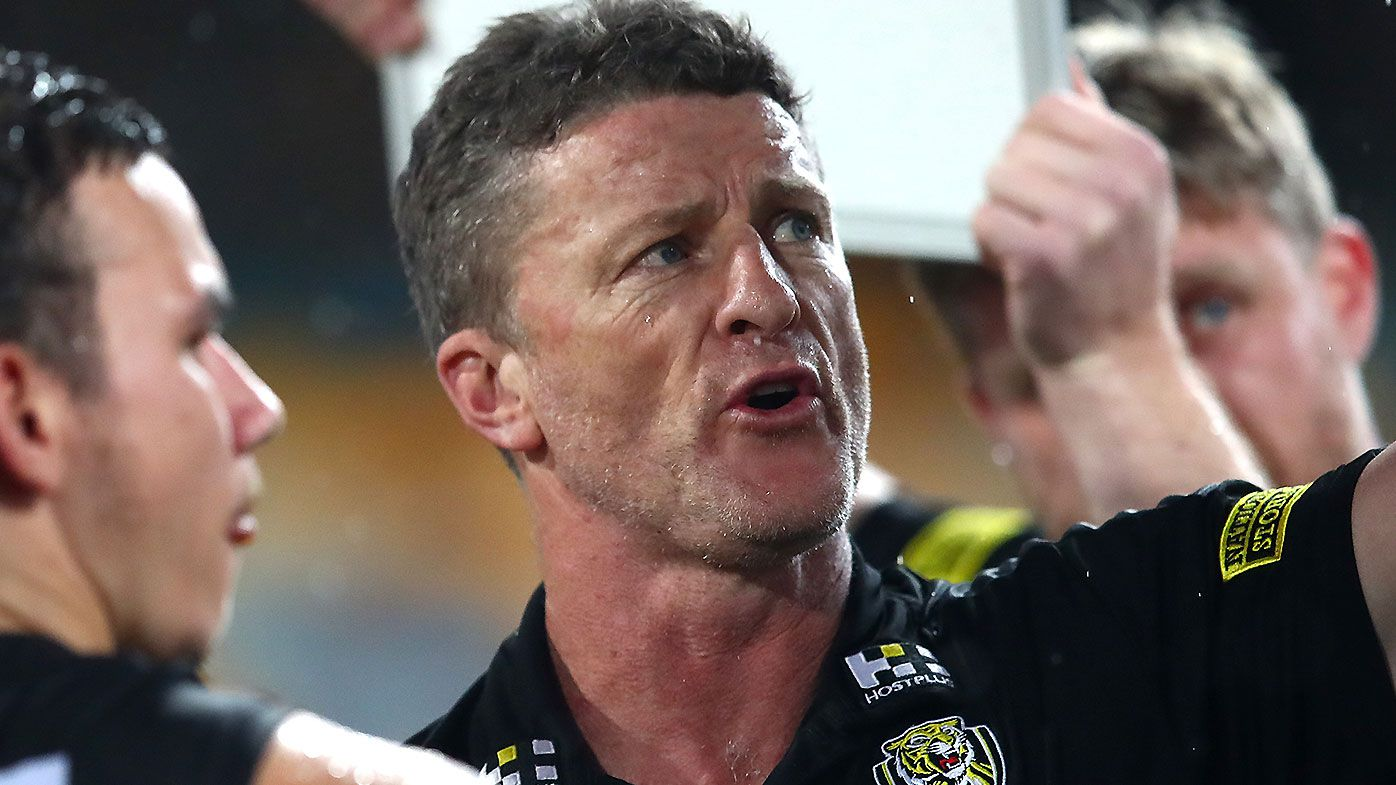 Richmond coach Damien Hardwick takes aim at Swans over 'horrendous game of football'