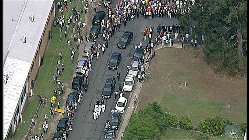 Huge crowds waited on the streets to say goodbye.