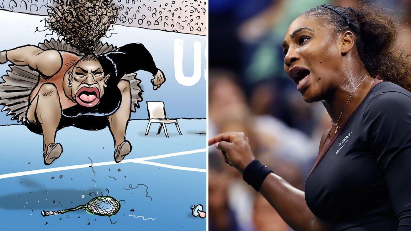Australian newspaper's cartoon of Serena Williams slammed as 'racist and sexist caricature'