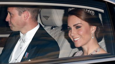 The Duke and Duchess of Cambridge travelling to official event