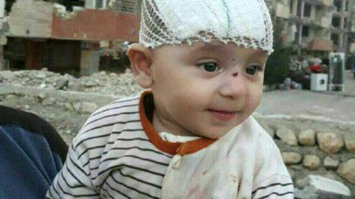 The rescued baby. (Press TV Iran)