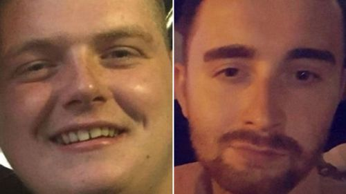 Nathan Kelly (left) and Christopher McLaughlin (right) have been acquitted of murder over the death of a homeless man in Sydney in 2018.