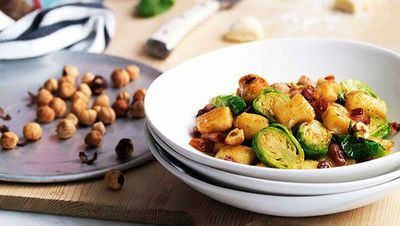 """<a href=""""http://kitchen.nine.com.au/2016/05/16/16/49/gnocchi-with-brussels-sprouts-pancetta-and-hazelnuts"""" target=""""_top"""">Gnocchi with Brussels sprouts, pancetta and hazelnuts</a><br /> <br /> <a href=""""http://kitchen.nine.com.au/2016/11/15/12/36/going-nuts-for-gnocchi"""" target=""""_top"""">More gnocchi recipes</a><br /> <br />"""
