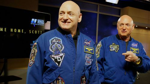 NASA astronaut Scott Kelly, left, and his twin Mark. (Photo: AP).