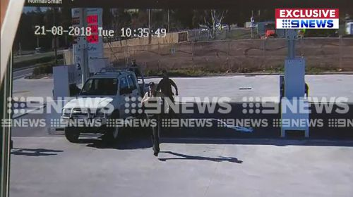 The moment an Adelaide man was tackled to the ground by police has been captured on CCTV footage.