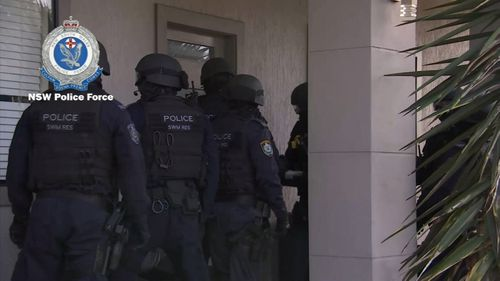 Police raided a number of homes at suburbs including Chester Hill, Granville and Kingswood.