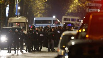 Police at the scene in Roubaix. (AAP)