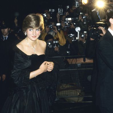 Princess Diana at her first post-engagement royal outing in 1981.
