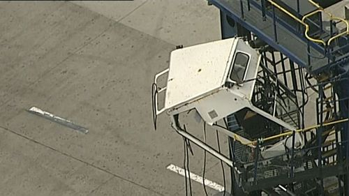 Paramedics worked to stabilise the woman before taking her to St George Hospital. (9NEWS)