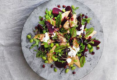 """<a href=""""http://kitchen.nine.com.au/2016/05/20/10/58/smoked-trout-and-beetroot-salad"""" target=""""_top"""">Smoked trout and beetroot salad<br /> </a>"""