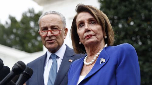 Chuck Schumer and Nancy Pelosi walked out of a meeting with Donald Trump.