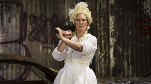 Reign over for Maitland artist who spent entire year dressed as Marie Antoinette
