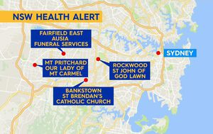 Southwest Sydney churchgoers and funeral attendees cautioned after possible COVID-19 exposure