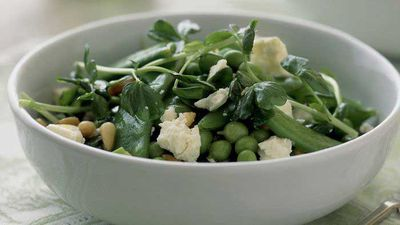 """Recipe: <a href=""""http://kitchen.nine.com.au/2016/05/17/19/49/mixed-pea-salad-with-mint-dressing"""" target=""""_top"""">Mixed pea salad with mint dressing</a><br> <br>"""