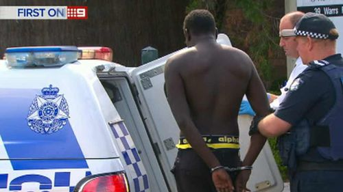 Police arrested a man near Highpoint today. (9NEWS)