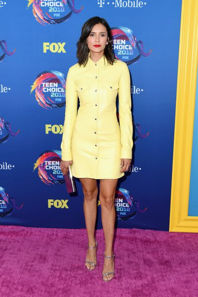 Actress Nina Dobrev in Calvin Klein at FOX's Teen Choice Awards in California, August, 2018