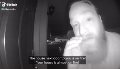 Neighbours save woman from house fire through security camera