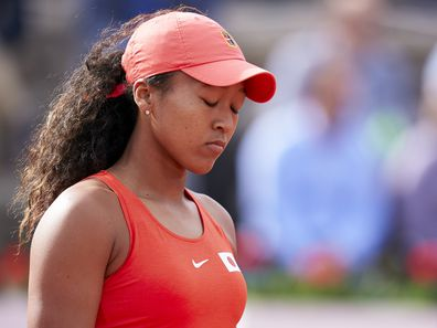 Naomi Osaka during the 2020 Fed Cup Qualifier between Spain and Japan