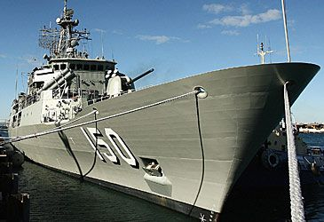 Daily Quiz: What type of ship is HMAS Anzac?