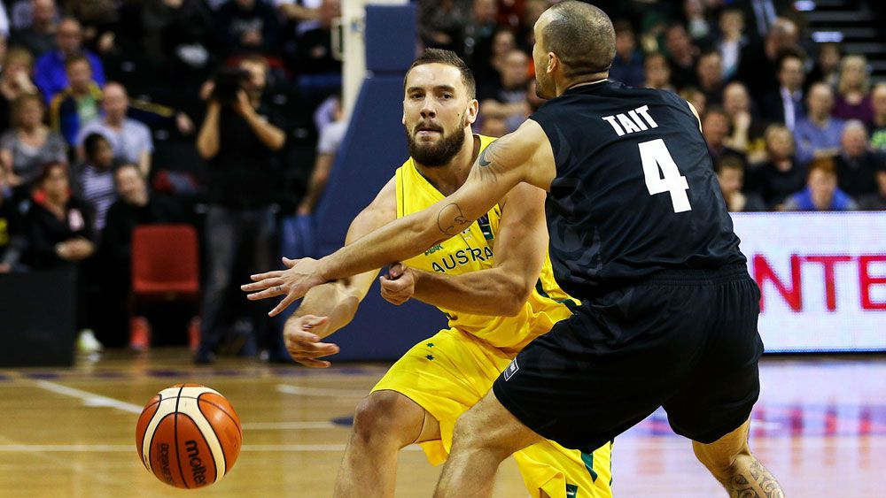 Adam Gibson in action for the Boomers. (Getty)