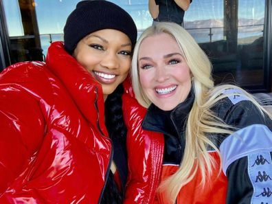 Real Housewives of Beverly Hills co-stars Garcelle Beauvais and Erika Jayne.
