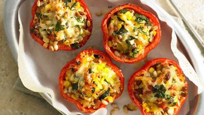 <strong>Mexican rice-stuffed capsicums</strong>