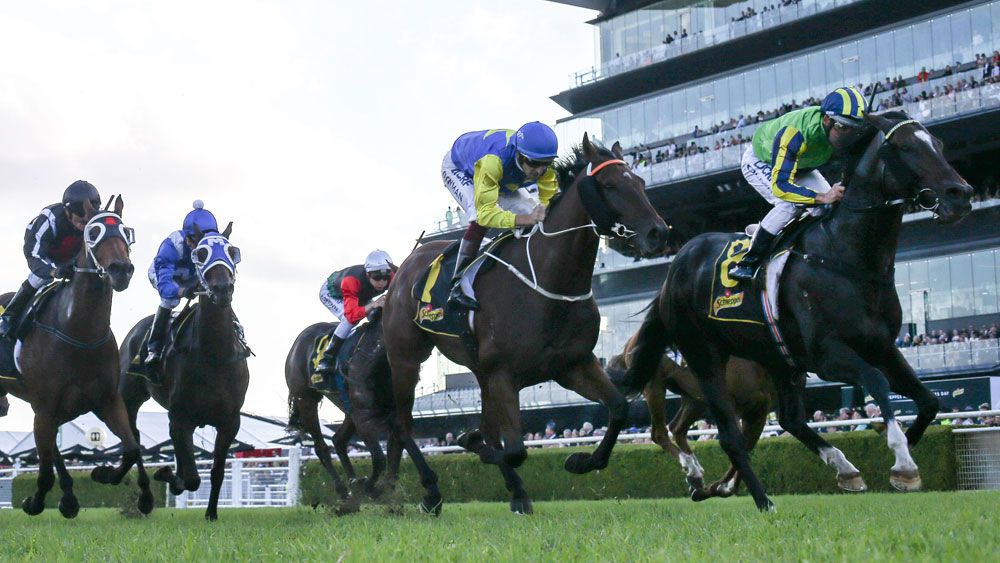 Damien Oliver piloted Tivaci to a group 1 win at Randwick. (AAP)