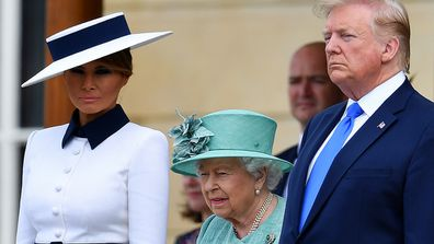Melania Trump didn't curtsy to the Queen.