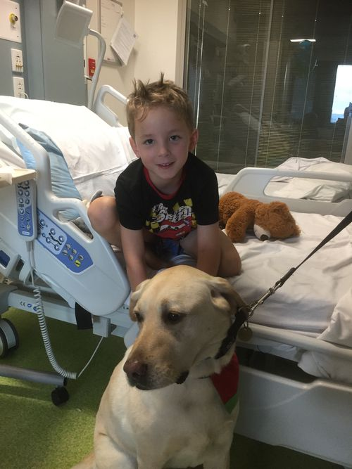 Quinn had a special visitor in hospital.