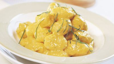 Gnocchi with caramelised pumpkin and sage sauce