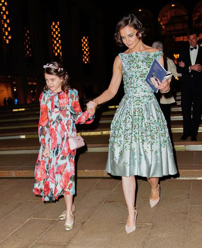 "With a fashion blog named in her honour, <em>Vanity Fair</em> covergirl status and a collection of custom-made Louboutins, Suri Cruise is the reigning queen of fashionable Hollywood offspring.<br /> <br /> So, it comes as no surprise that the 12-year-old daughter of Tom Cruise and Katie Holmes chose to make her debut at the Spring Gala for American Ballet Theatre in New York City, clad in a $1,577 Dolce &amp; Gabbana dress.<br /> <br /> The price point may not be your average 2-for-1 buy at Pumpkin Patch, but it seems relatively tame in comparison to <a href=""http://https://style.nine.com.au/2017/03/07/08/53/beyonce-blue-ivy-gucci-beauty-beast"" target=""_blank"">Beyonce&rsquo;s daughterBlue Ivy&rsquo;s $32,000 Gucci dress inclinations.</a><br /> <br /> But the tween's best accessory for the night? Her mother.<br /> <br /> Holmes complemented her daughter&rsquo;s floral look with an equally show-stopping flowery gown courtesy of designer, Zac Posen.<br /> <br /> From their matching raven-coloured hair, gamine smiles and penchant for pastels and prints, the mother-daughter duo showed how to make a twinning sartorial statement.<br /> <br /> Click through to see more of Katie, Suri and other famous mother-daughter duos in our celebrity twinning gallery.<br />"