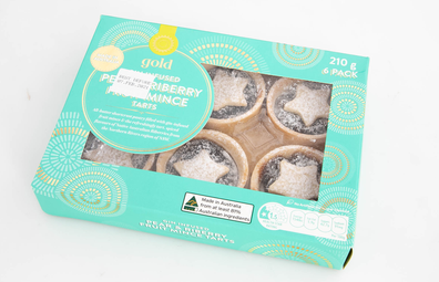 Woolworths Gold Gin Infused Pear & Riberry Fruit Mince Tarts