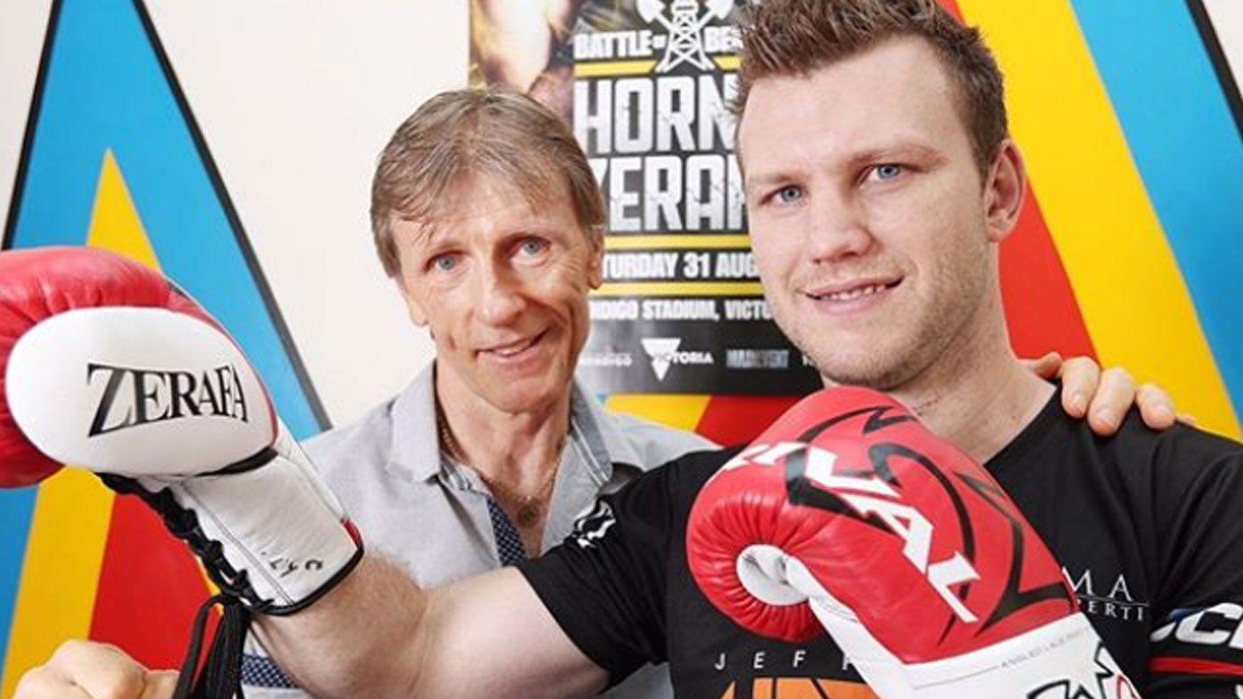 Jeff Horn auctioning off infamous Zerafa gloves for bushfire appeal