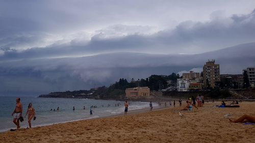 Storm clouds over Coogee yesterday evening. (Grace Geary/Supplied)