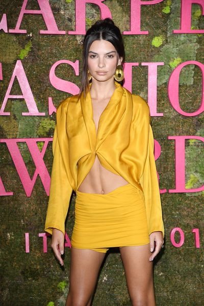 It was all about A-listers and eco style at this year's Green Carpet Fashion Awards held in Milan, Italy, over the weekend.<br /> <br /> Also known as 'The Oscars of sustainable fashion' the award ceremony creates awareness around the importance of eco-friendly clothing and there was no shortage of high-flying celebs who turned up to support the event.<br /> <br /> Supermodel royalty like Emily Ratajkowski, Cindy Crawford, Elle McPherson and Sara Sampaio along with Hollywood stars like Colin Firth and Cate Blanchett all graced the green carpet sporting sustainable luxury styles crafted by big name designers such as Versace and Stella McCartney.<br /> <br /> <br /> <br /> Victoria's Secret Model Stella Maxwell donned a denim jumpsuit made from vintage denim jeans embellished with silver paillettes that were recycled from dead stock materials.<br /> <br /> And you'd never guess that actress Julianne Moore's dress was made from recycled bottles.<br /> <br /> Scroll through the gallery to see more examples of how designers and Hollywood big shots came together to celebrate ethics in aesthetics!