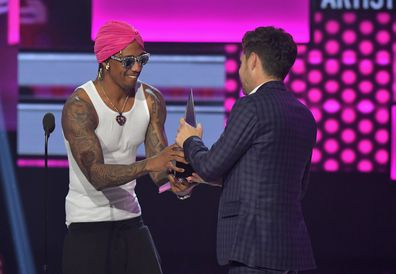 Nick Cannon onstage during the 2017 American Music Awards at Microsoft Theater on November 19, 2017 in Los Angeles, California.