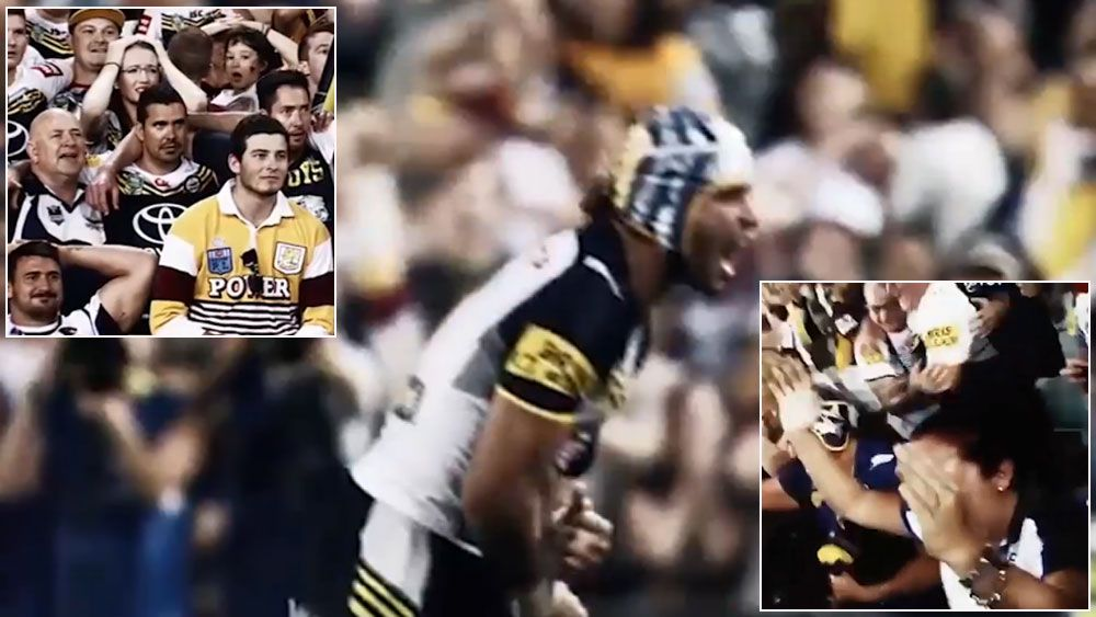 Thurston, fans the stars in new NRL ad