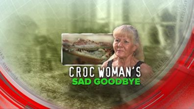 Croc woman's sad goodbye
