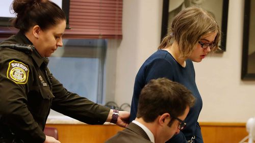 Morgan Geyser, 15, appears for sentencing before Waukesha County Circuit Judge Michael Bohren. (AAP)